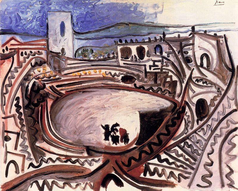 Пабло Пикассо. Арена перед Роной