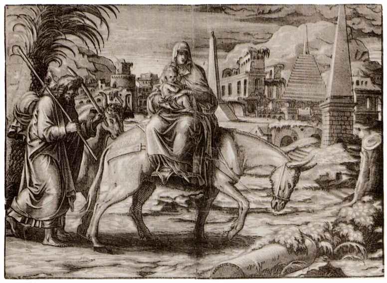 Георг Матеус. Бегство в Египет