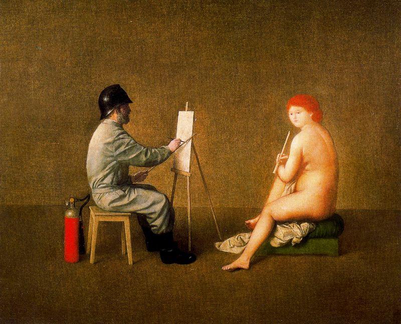 Антонио Буэно. Художник и натурщица
