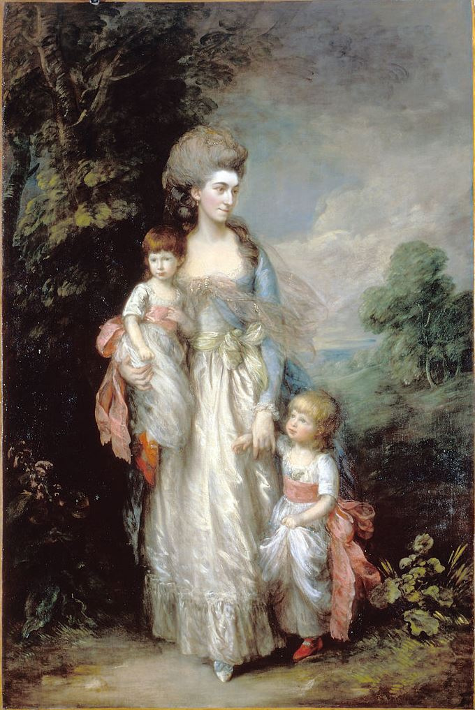 Thomas Gainsborough. Mrs Elizabeth Moody with her sons Samuel and Thomas