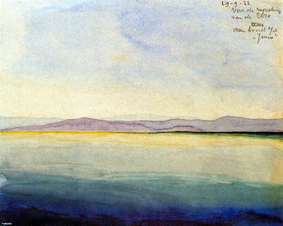 Мауриц Корнелис Эшер. Море в устье реки Эбро