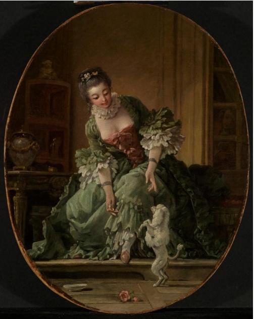 Francois Boucher. Obedient puppy