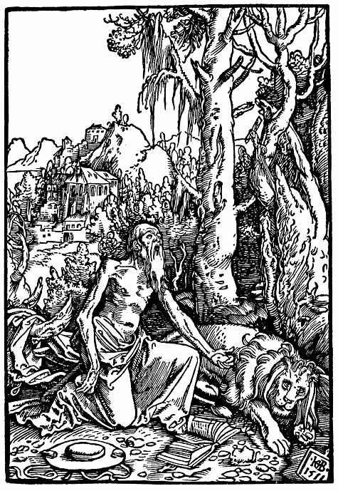 Ханс Бальдунг. Кающийся Святой Иероним в лесной чаще