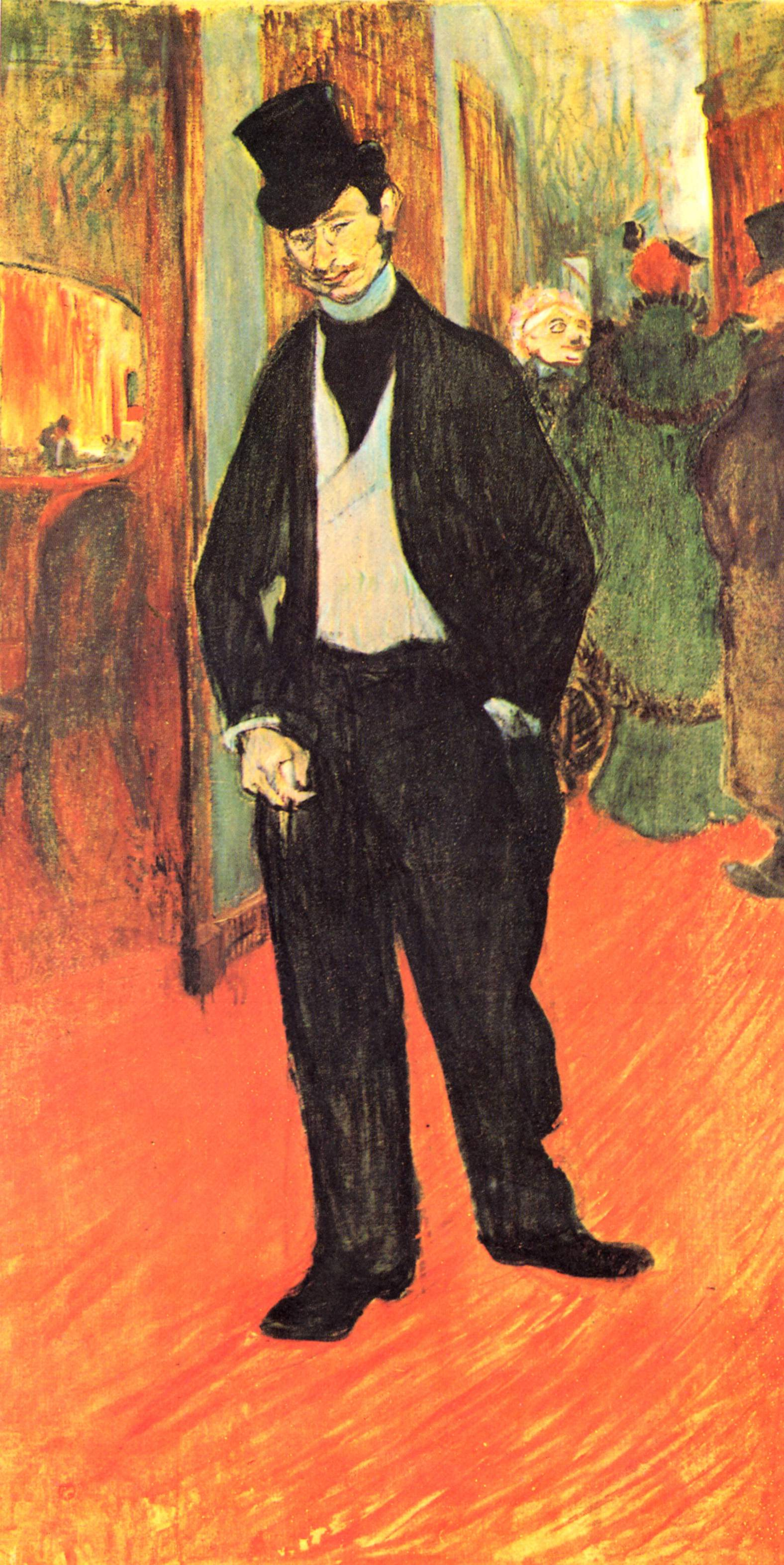Henri de Toulouse-Lautrec. Dr. Tapie de Celeyran in the theater lobby