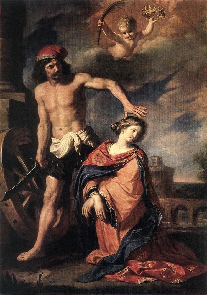 Giovanni Francesco Guercino. The Martyrdom Of Saint Catherine