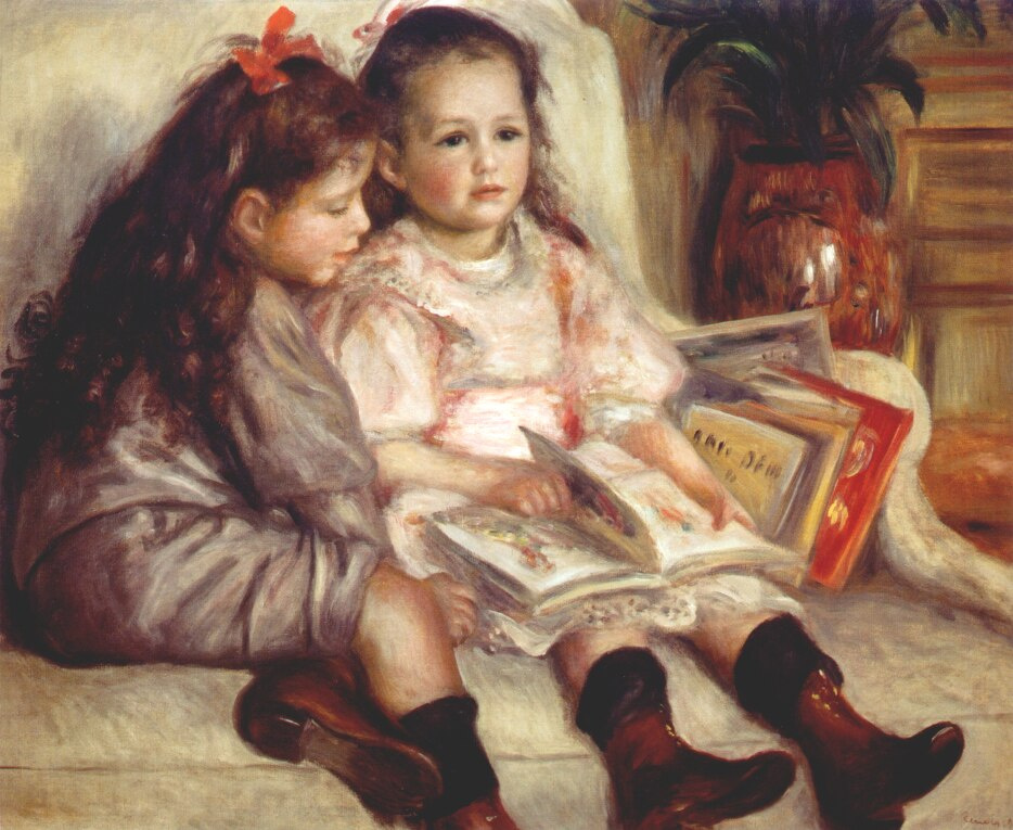 Pierre-Auguste Renoir. Portrait of two children
