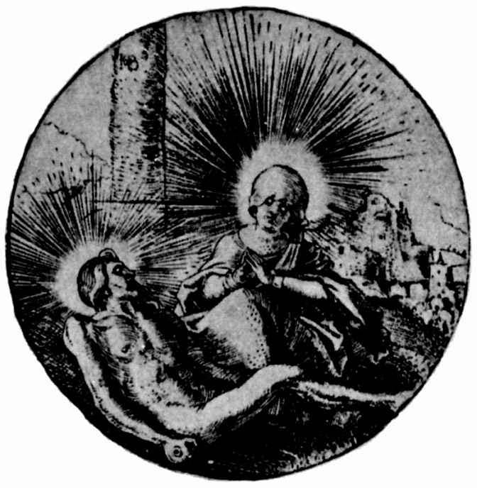 Ханс Бальдунг. Тондо: Оплакивание Христа