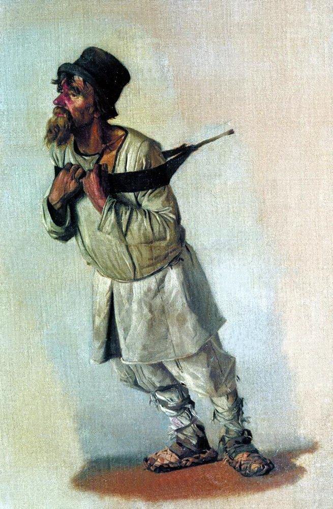 Василий Васильевич Верещагин. Бурлак, держащийся руками за лямку