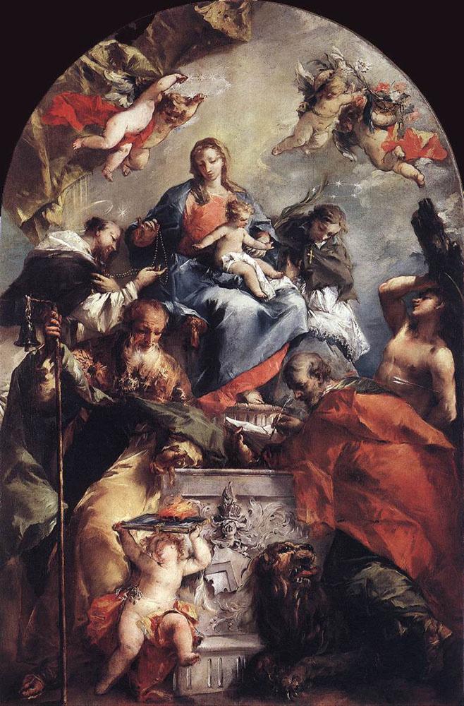 Giovanni Antonio Guardi. Madonna and child with saints