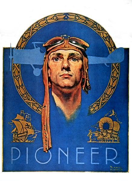 "Норман Роквелл. Пионер. Обложка журнала ""The Saturday Evening Post"" (23 июля 1927 год)"