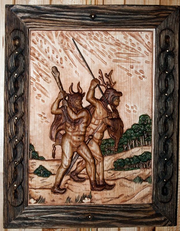 "Alexey Vybornov. ""Germanic warriors"""