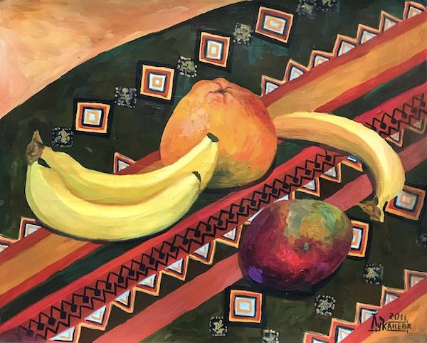 Larissa Lukaneva. Still Life with Tropical Fruits