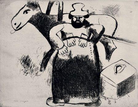 Марк Захарович Шагал. Иллюстрация к «Мертвым душам». Селиван