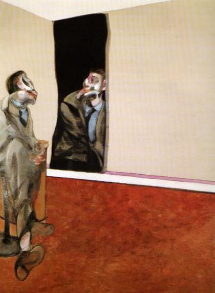 Фрэнсис Бэкон. Портрет Джорджа Дайера глядя в зеркало