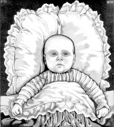 Maurits Cornelis Escher. Baby Arthur Asher