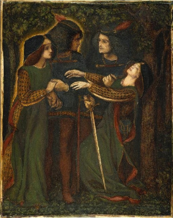 Dante Gabriel Rossetti. How they met themselves