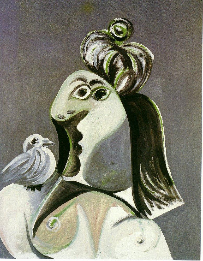Пабло Пикассо. Женщина с птицей