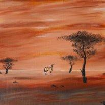 Victor Petrovich Burmin. Antelope Landscape