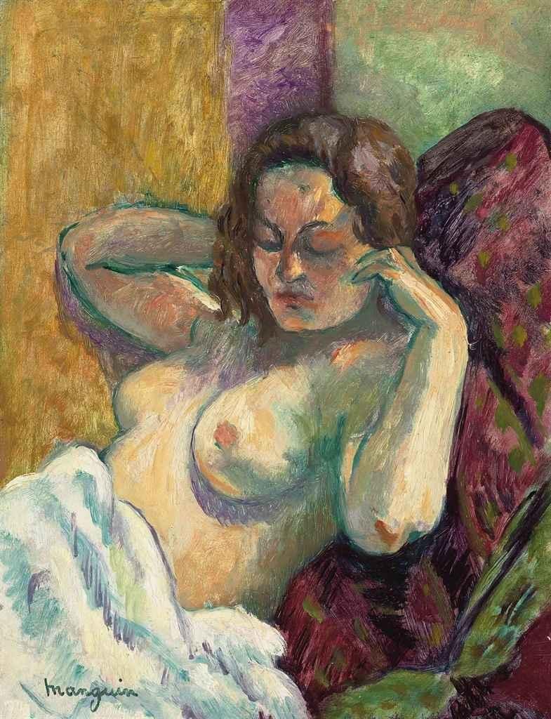 Henri Manguin. Portrait of half-naked Vanino