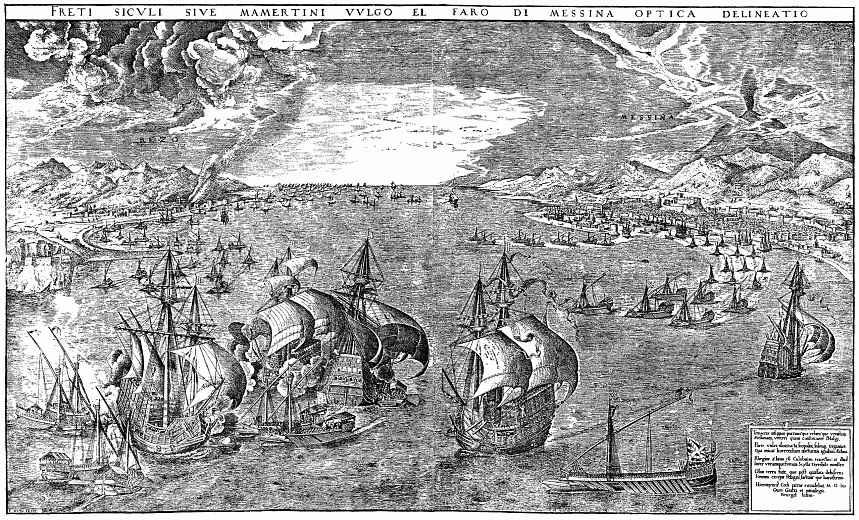 Питер Брейгель Старший. Морская битва в бухте под Мессиной