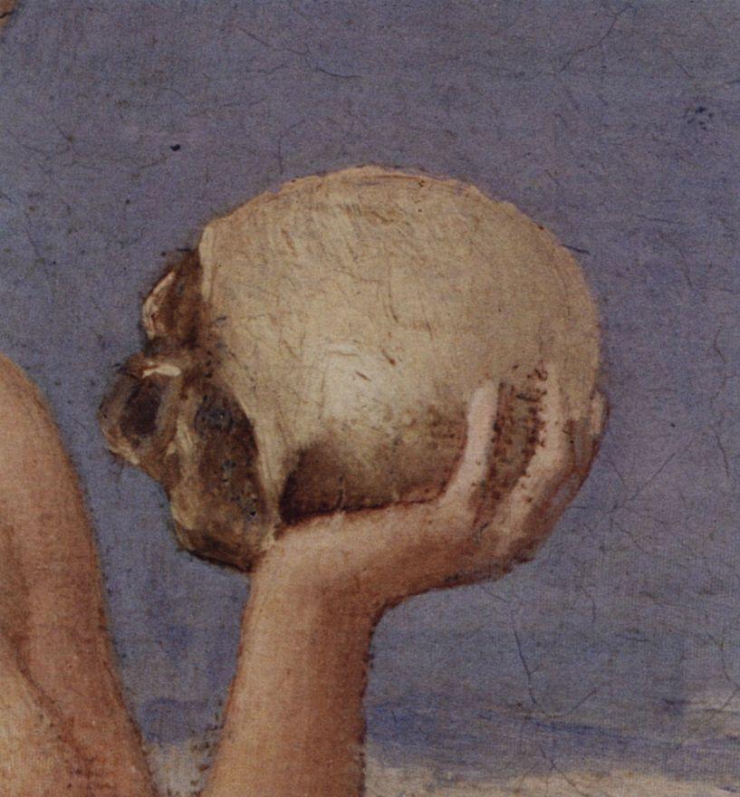Пьер Сесиль Пюви де Шаванн. Св. Мария Магдалина в пустыне, деталь