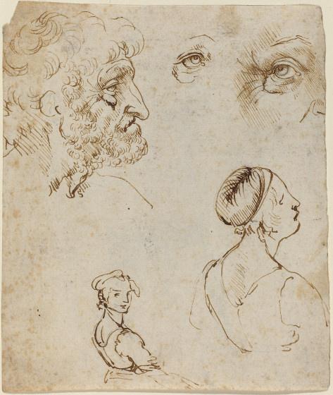 Leonardo da Vinci. Outline people