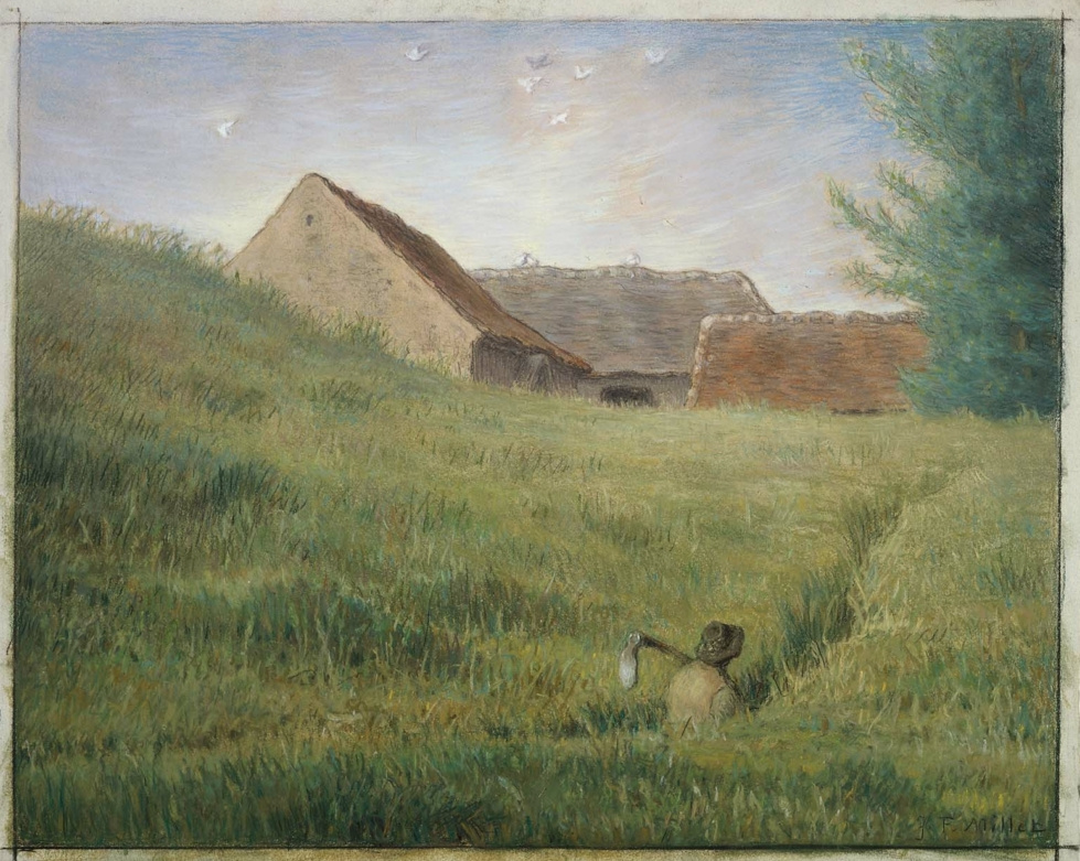 Jean-François Millet. Path through a wheat field