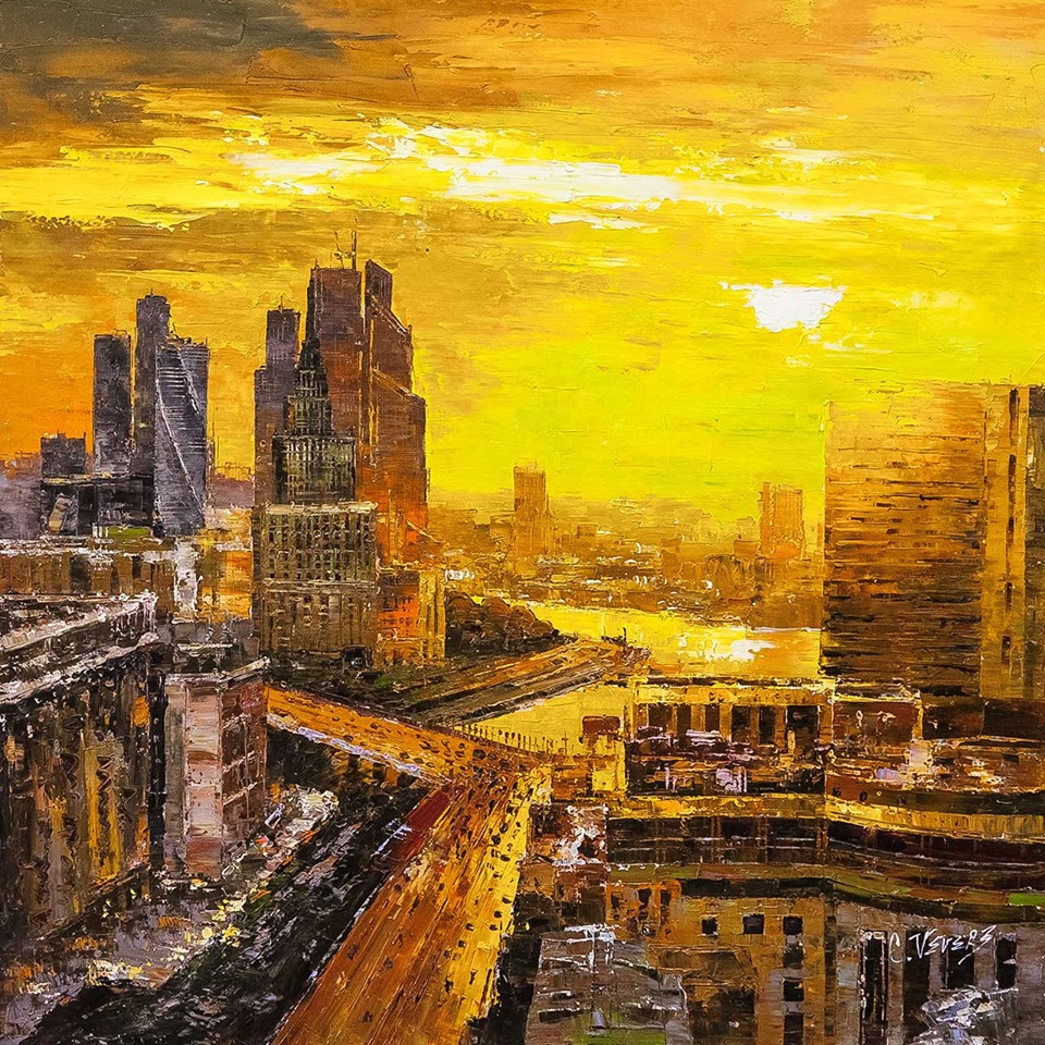 (no name). In the heart of the metropolis. Sunset