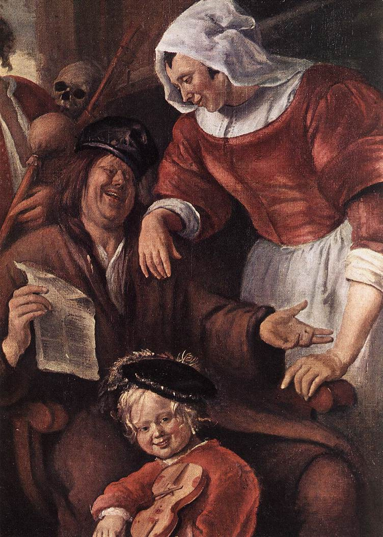 Jan Steen. The family of the trouble (excerpt)
