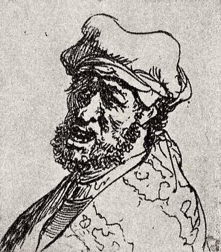 Рембрандт Харменс ван Рейн. Мужчина с открытым ртом
