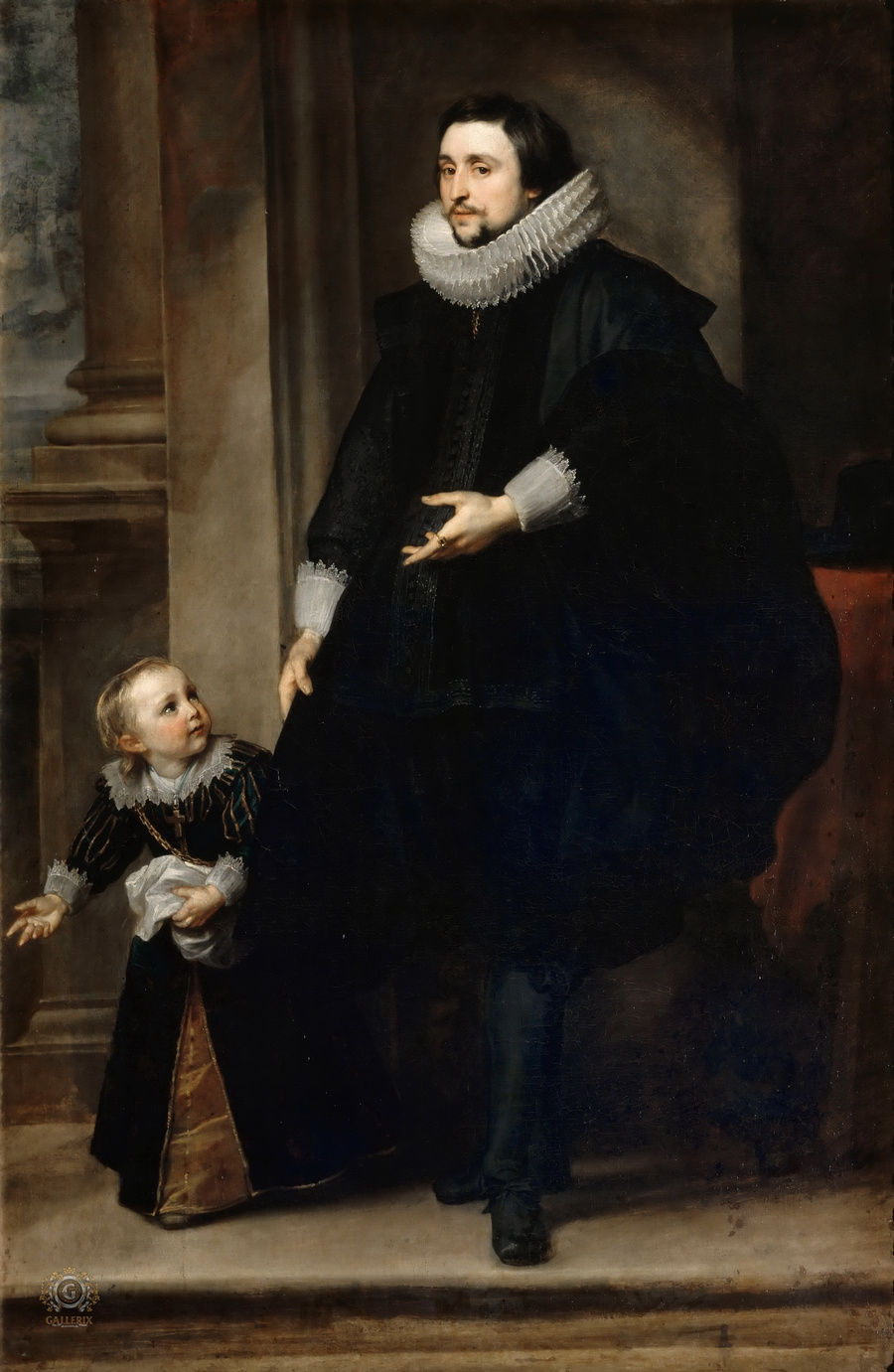 Anthony van Dyck. Portrait of a nobleman with his son