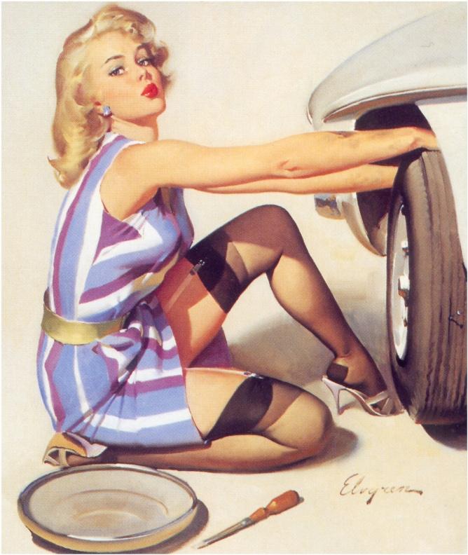 Jill Elvgren. Wheel