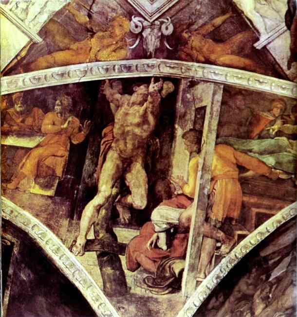 Микеланджело Буонарроти. Наказание Амана