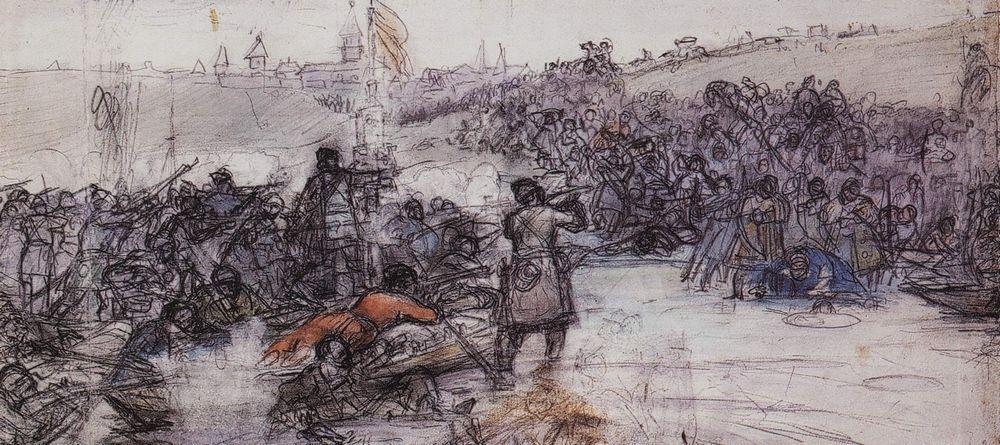 Василий Иванович Суриков. Покорение Сибири Ермаком