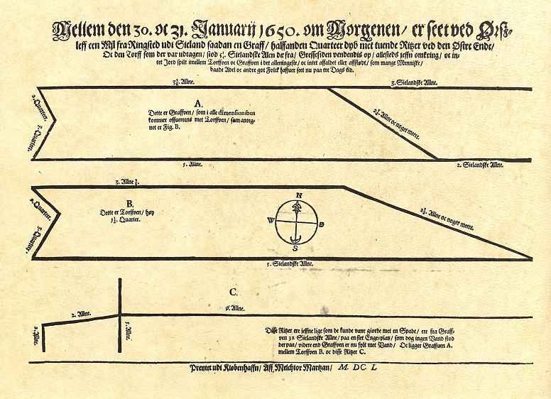 Мельхиор Марцан. Листовка с сообщением об обнаружении могилы