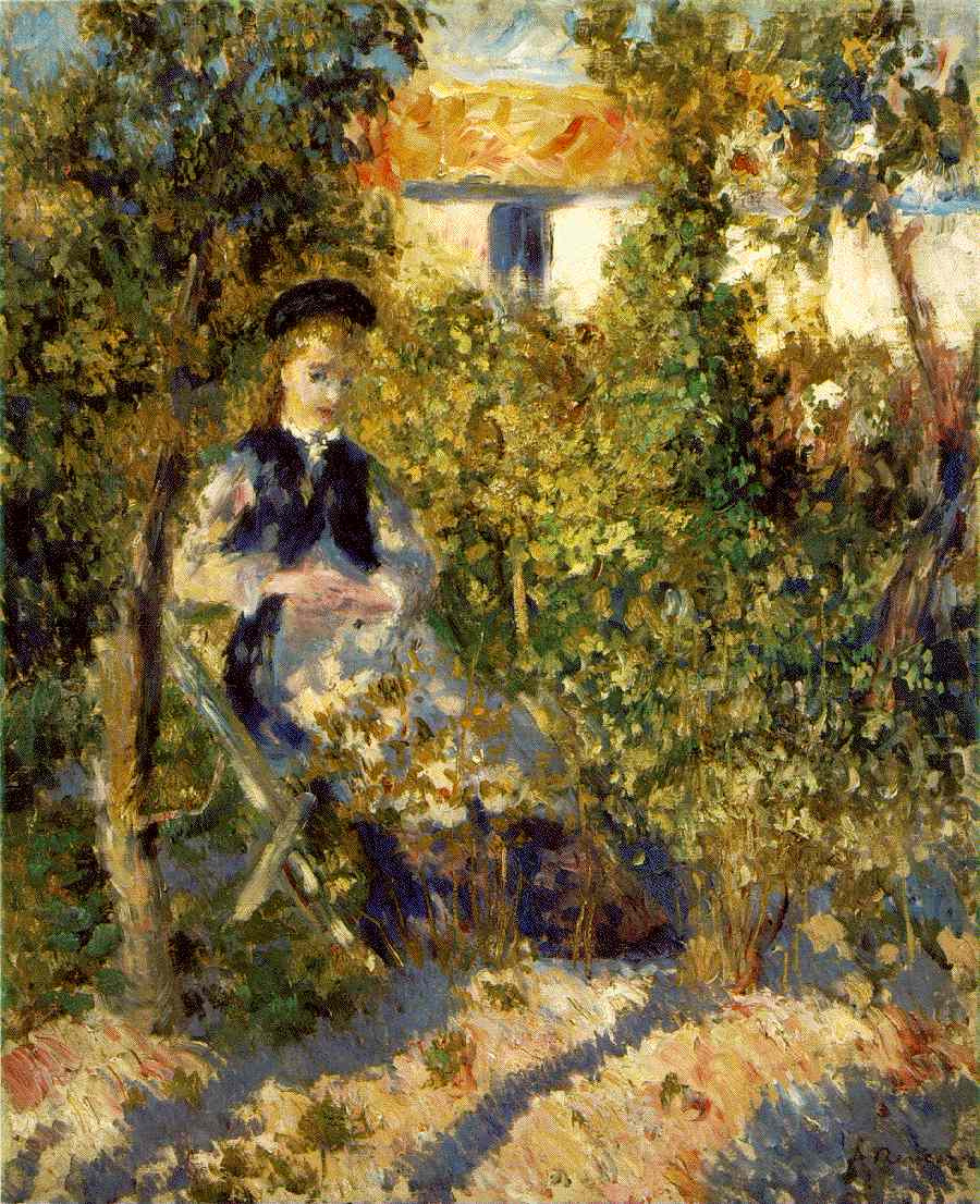 Pierre-Auguste Renoir. Nini in the garden
