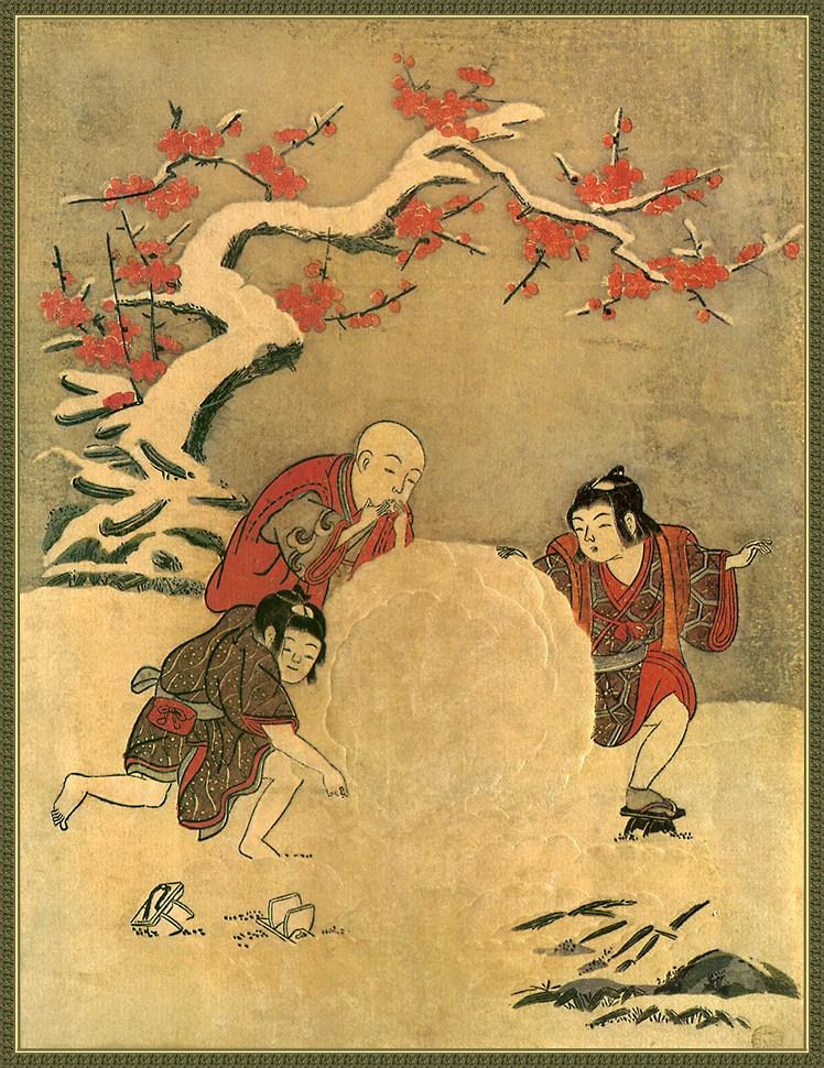 Судзуки Харунобу. Снежный шар