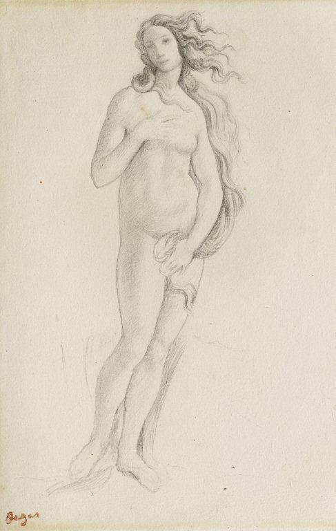 Эдгар Дега. Венера (по мотиву картины Боттичелли)