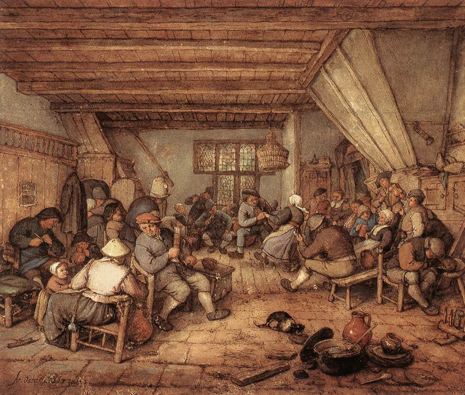 Адриан Янс ван Остаде. Пир крестьян в таверне