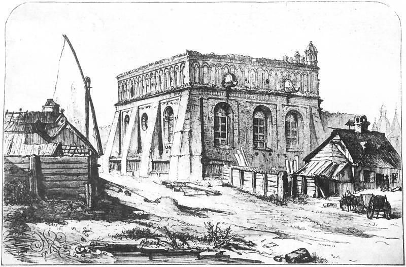 Ян Матейко. Жолква. Кирпичная ренессансная синагога XVII века