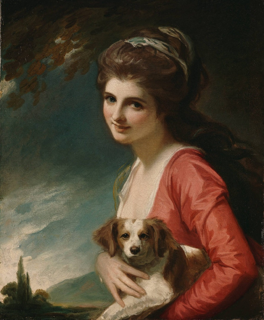 George Romney. Lady Hamilton in the allegorical image of Nature