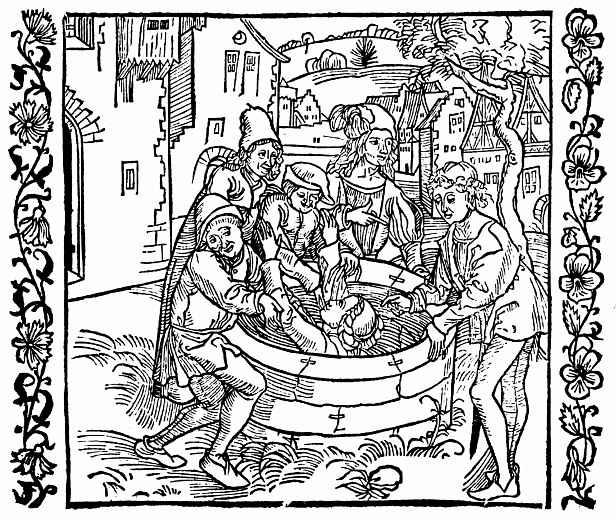 Альбрехт Дюрер. Девица, упавшая в колодец, спасена с Божьей помощью