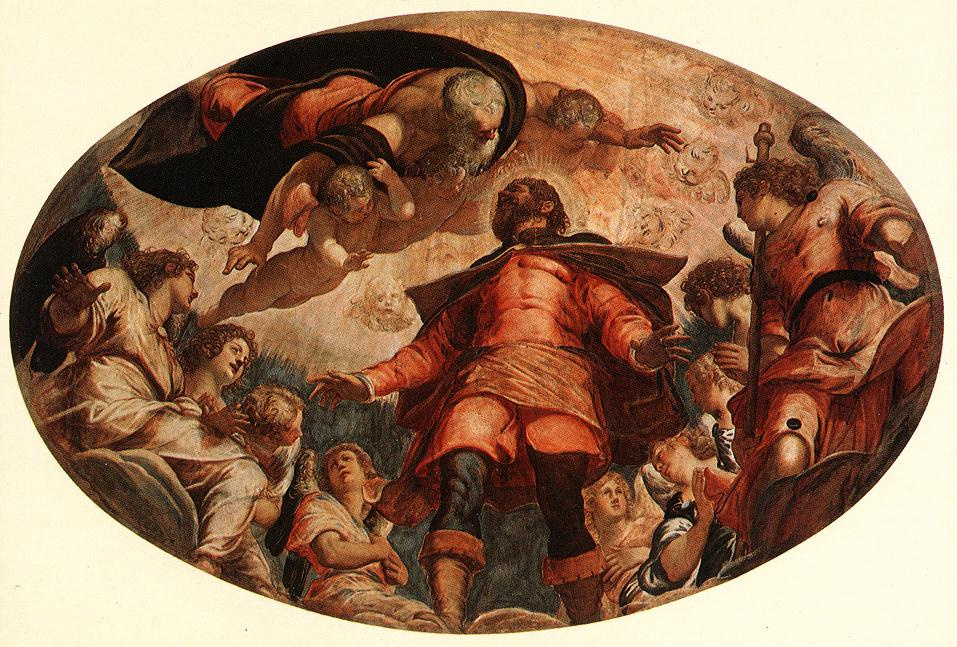Jacopo (Robusti) Tintoretto. Holy Roch in glory