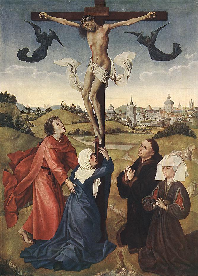 Рогир ван дер Вейден. Триптих Распятие. Фрагмент