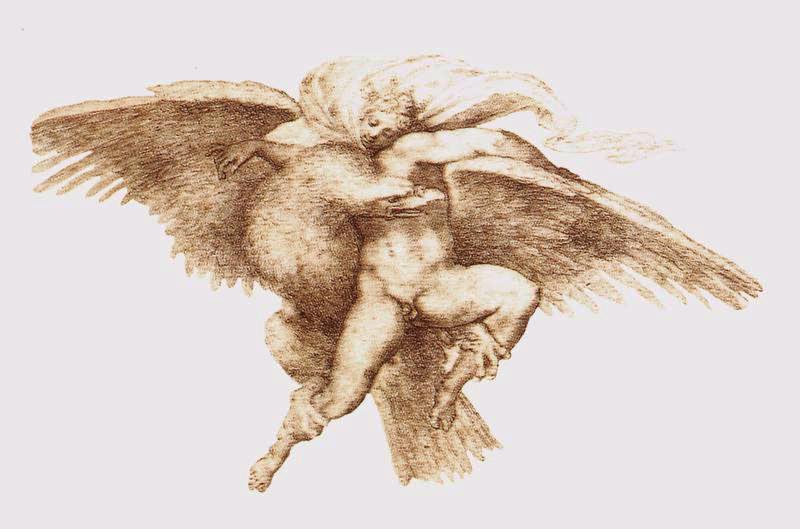 Микеланджело Буонарроти. Похищение Ганимеда