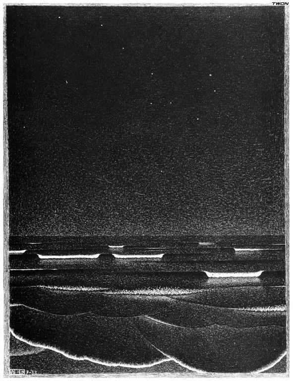 Мауриц Корнелис Эшер. Сияющие море