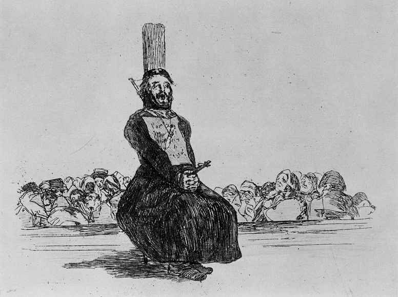 """Francisco Goya. The series """"disasters of war"""", page 34: pocket knife"""