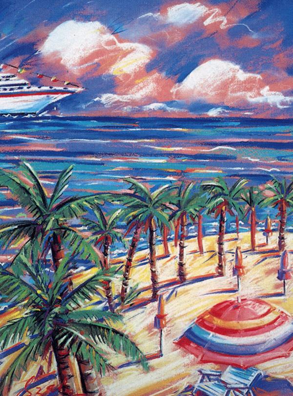 Лесли Сабо. Пляж