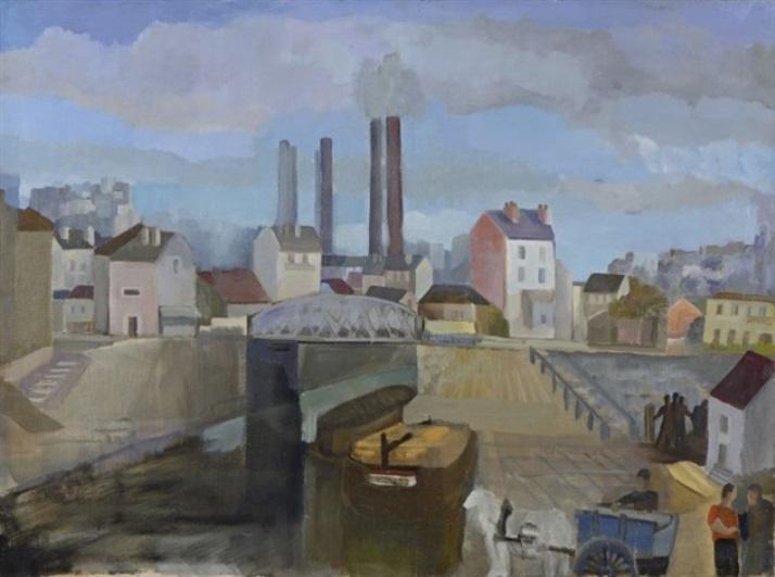 Theophile-Alexander Steinlen. Barges in Saint-Denis