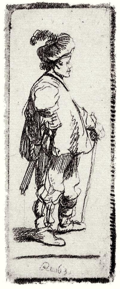 Рембрандт Харменс ван Рейн. Поляк в берете с пером